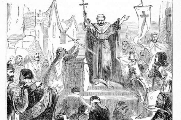 Peter the Hermit preaching First Crusade